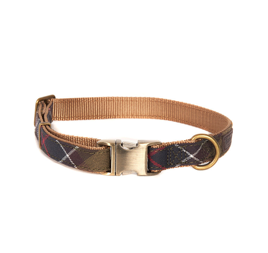 Barbour Tartan Webbing Adjustable Dog Collar