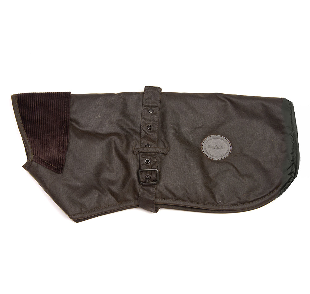 Barbour New Wax Cotton Fleece Lined Dog Coat