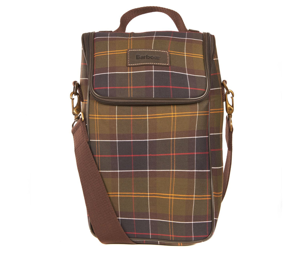 Barbour Tartan Wine Insulated Cooler Bag - SALE