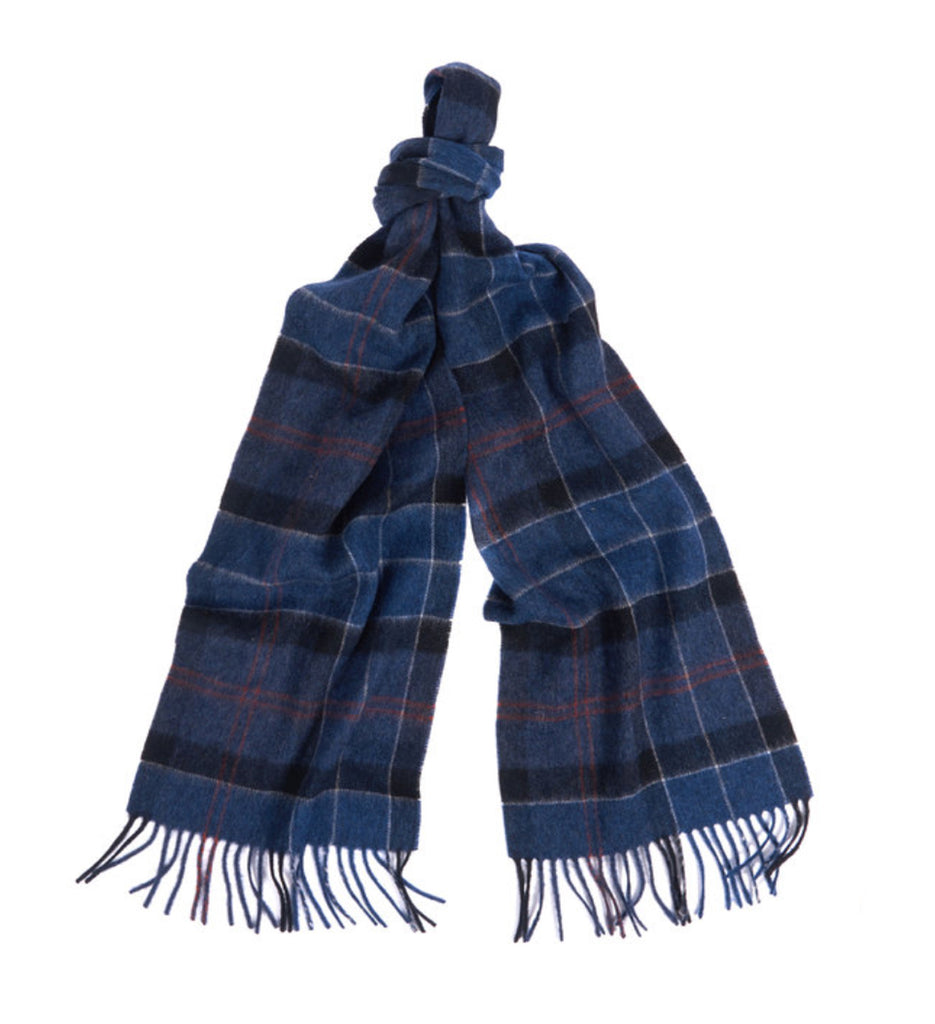 Barbour Holden Tartan Scarf - Navy/Rust
