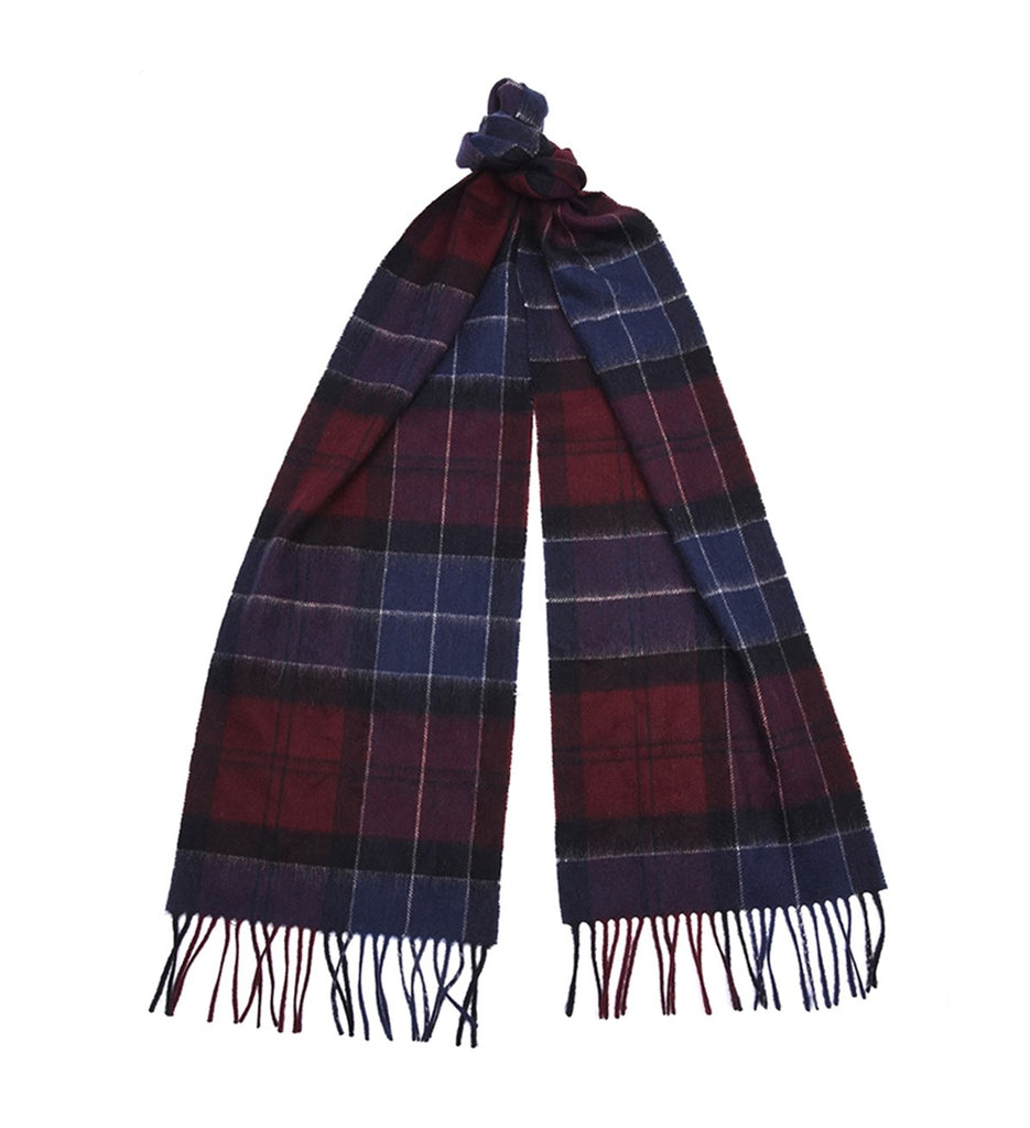 Barbour Holden Tartan Scarf - Port/Navy