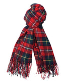 Barbour Fulmar Scarf - Red Check - North Shore Saddlery
