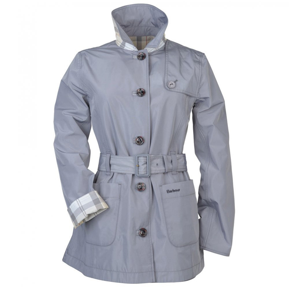 Barbour Oak Reversible Trench Coat in Pewter - SALE
