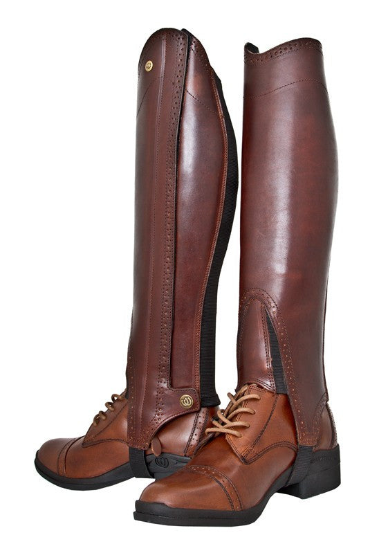 Hoof & Woof Premium Full Grain Leather Half Chaps