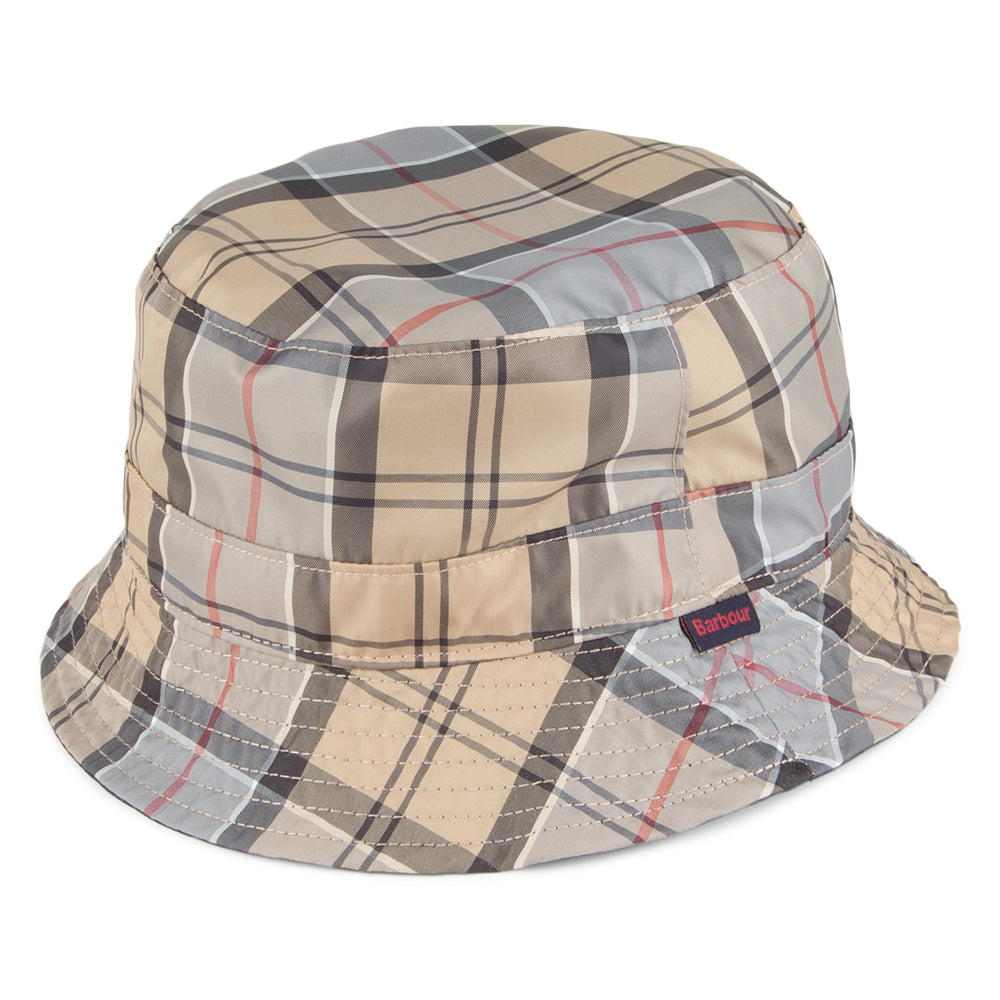 Barbour Reversible Packable Tartan Bucket Hat - SALE