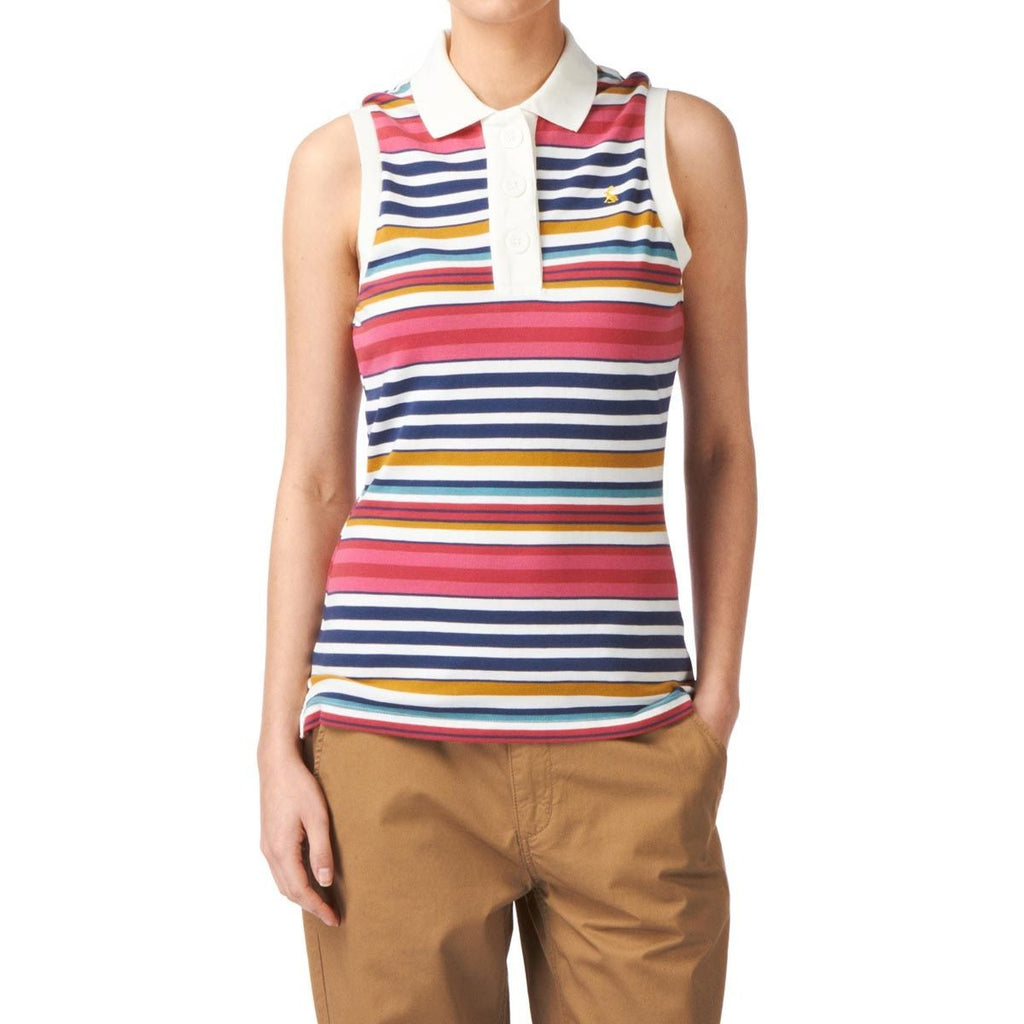 Joules Cheeky Sleeveless Polo - Multi Color Stripes - SALE