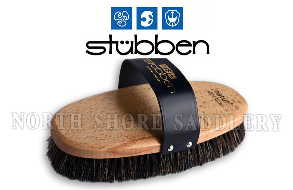 Stubben Natur Wood Back Boar Bristle Brush