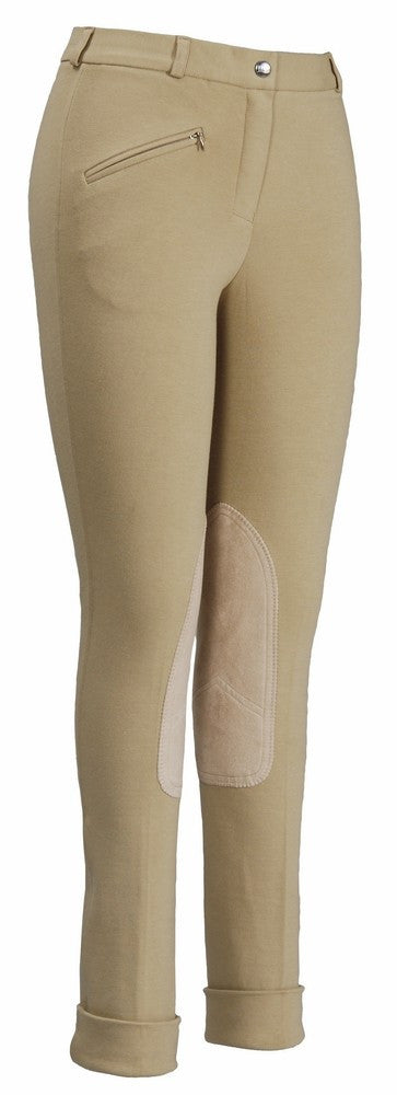 TuffRider Ladies Front Zip Knee Patch Jodhpurs - SALE