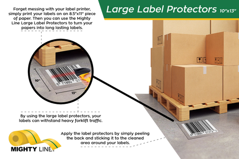 Mighty Line Clear Label Protectors