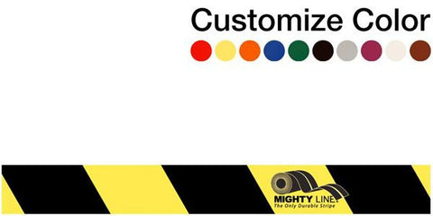 Customized - 2 Repeating Message Floor Tape With Black Diagonals Set Of