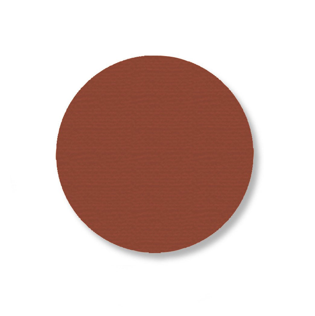 3.5 Brown Solid Floor Tape Dot- Stand. Size - Pack Of 100 Product