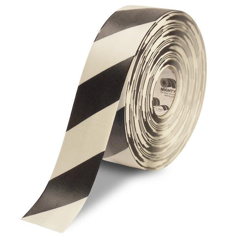 3 White Tape With Black Chevrons - 100 Roll Product