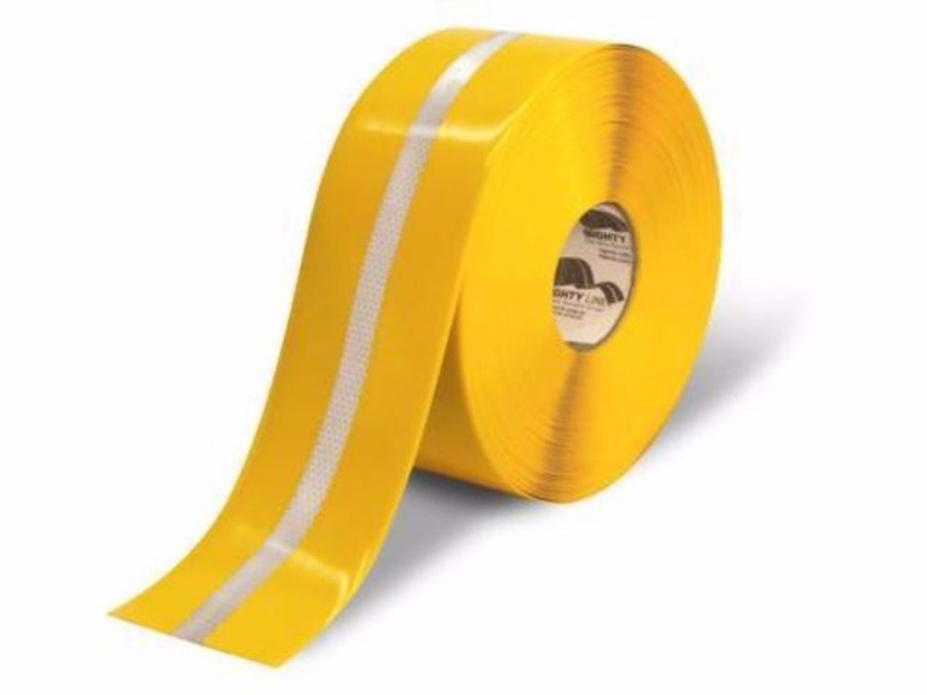4 Yellow With Reflective Center Line Floor Tape Product