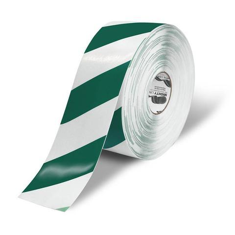 4 White Floor Tape With Green Chevrons - 100 Roll Product