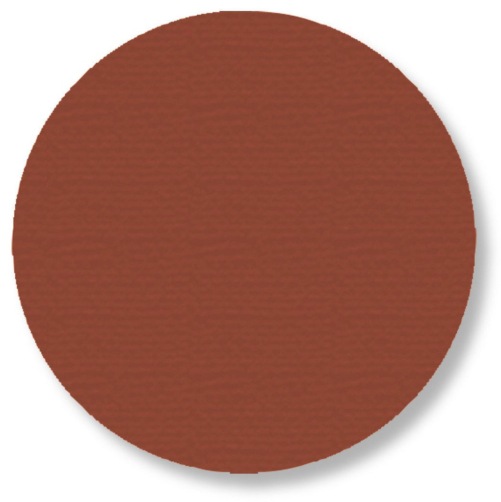 5.7 Brown Solid Floor Tape Dot - Pack Of 50 Product
