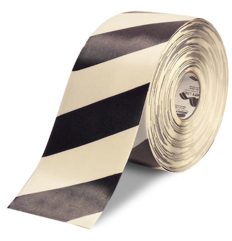 6 White Tape With Black Chevrons - 100 Roll Product