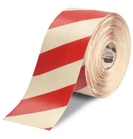 6 White Tape With Red Chevrons - 100 Roll Product