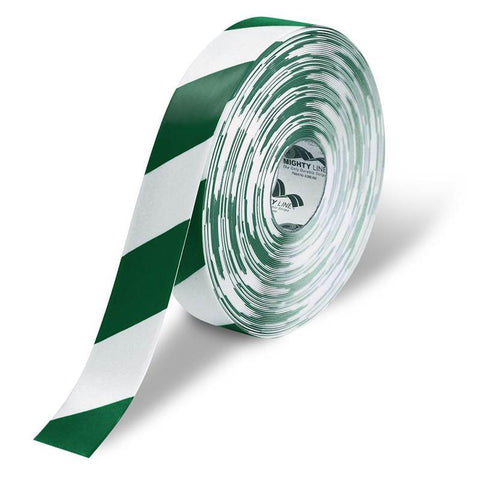 2 White Floor Tape With Green Chevrons - Safety Product