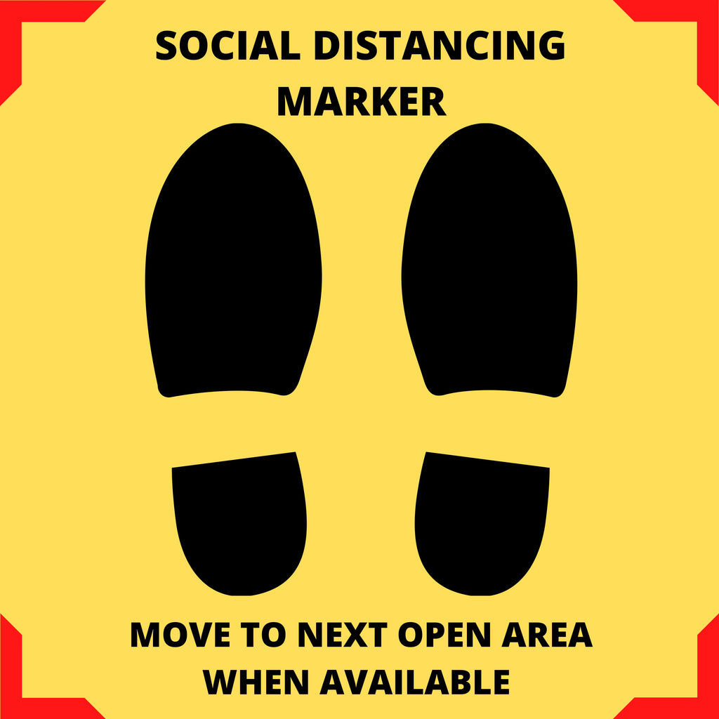 Social Distancing Floor Marking Sign Safety