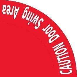 Copy Of Caution Door Swing Red 36- Safety Floor Sign