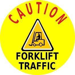Caution Forklift Traffic Product