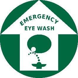 Eye Wash Station Location Green Floor Sign- Safety Sign Product