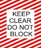 Keep Clear Do Not Block - Red And White 24 X Product
