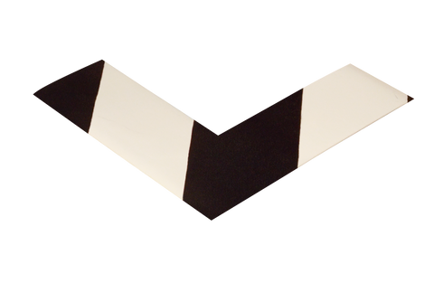 2 Wide Solid White Angle With Black Chevrons - Pack Of 25 Product