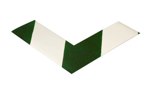 2 Wide Solid White Angle With Green Chevrons - Pack Of 25 Product