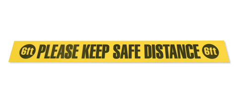 Please Keep Safe Distance 6 Ft Floor Tape Segments - 4 X 36 Pack Of 10 Safety Sign