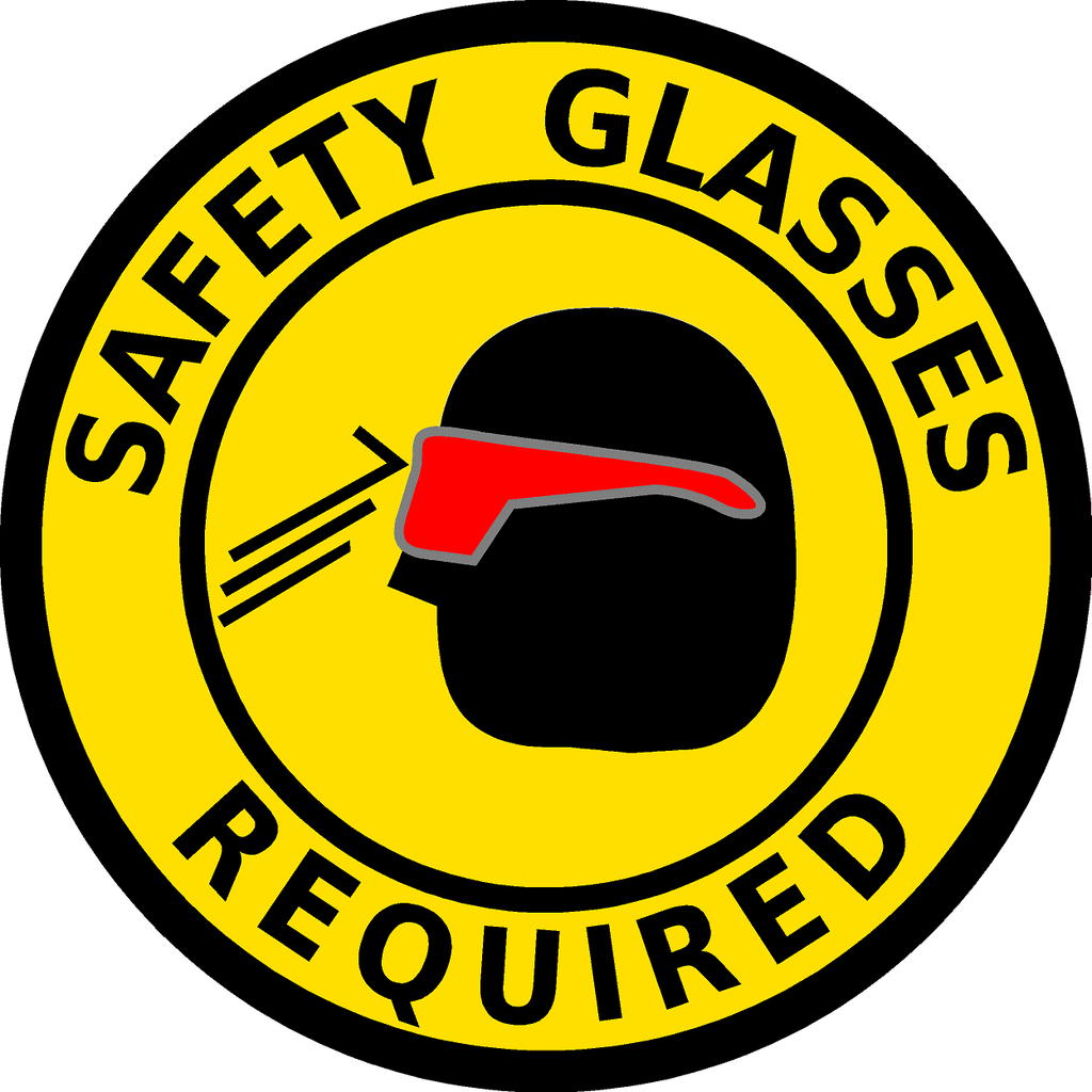 Safety Glasses Required Product