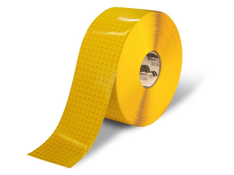 4 Yellow Brick Safety Floor Tape - 100 Roll Product