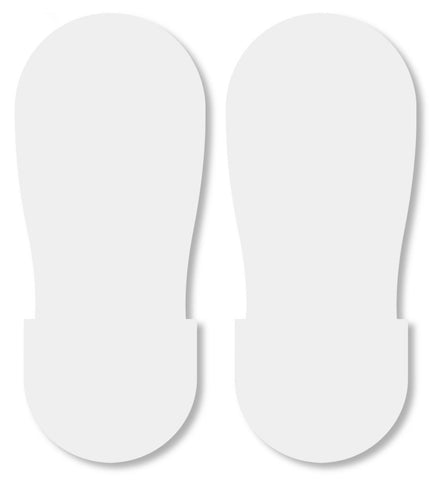 White Big Footprint - Pack Of 50 Product