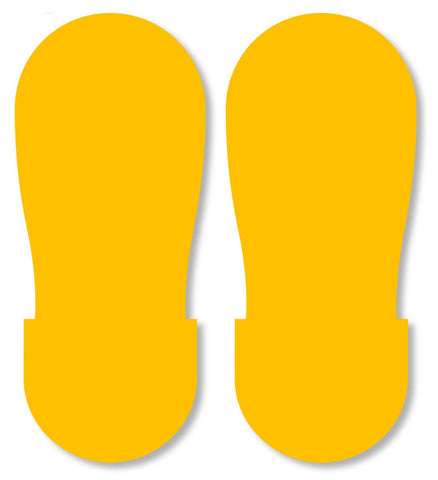 Yellow Big Footprint - Pack Of 50 Product