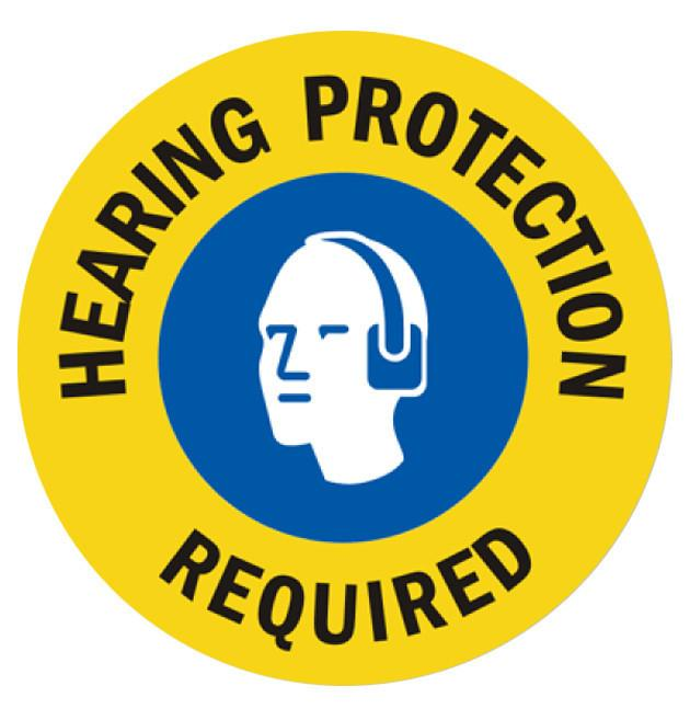 Hearing Protection Required (Multi-Color) - 1 Floor Sign Product
