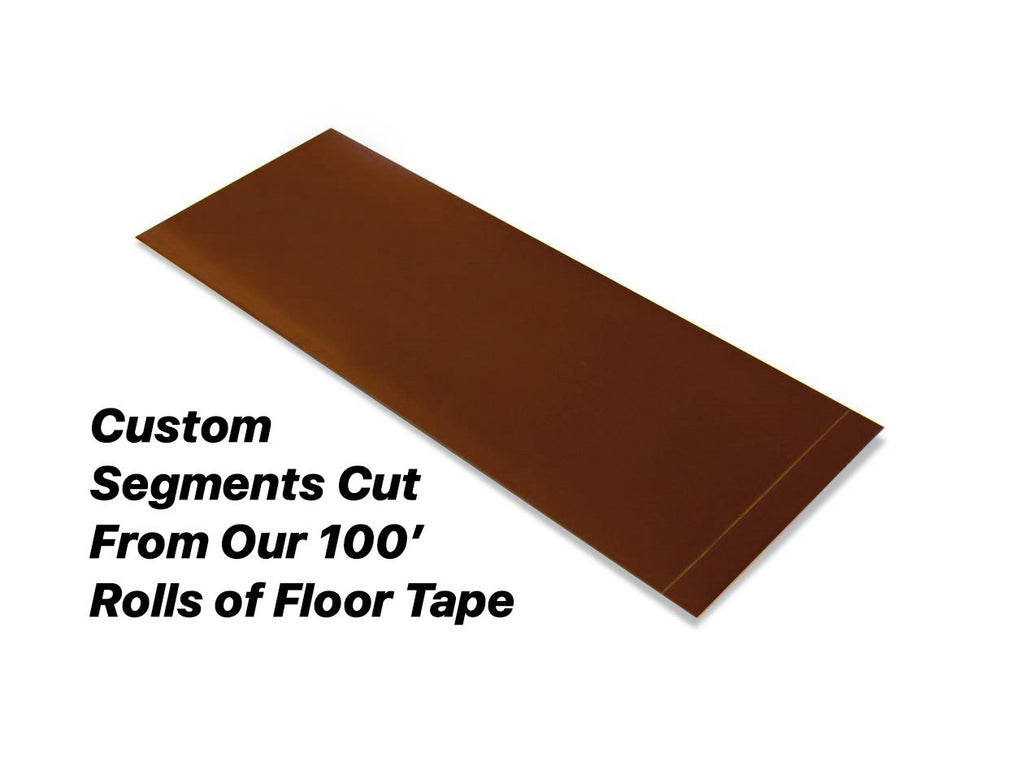 Custom Cut Segments - 6 Brown Solid Color Tape 100 Roll Product