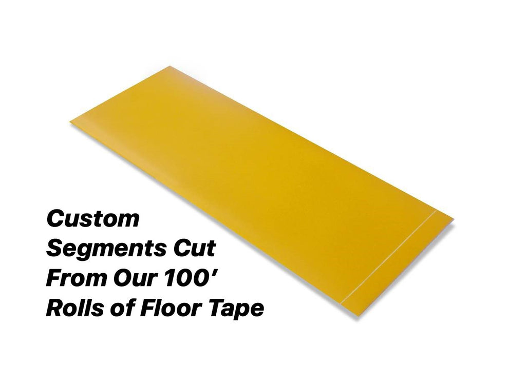 Custom Cut Segments - 4 Yellow Solid Color Tape 100 Roll Product