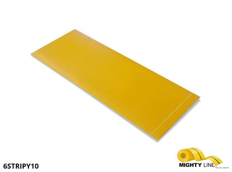 6 Inch Wide - 10 Long Segment Box Of 100 Yellow Product