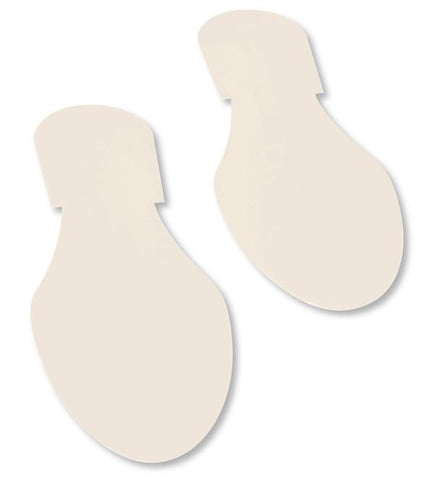 Solid Colored White Footprint - Pack Of 50 Product