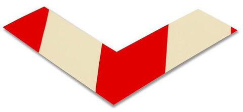 2 Wide Solid White Angle With Red Chevrons - Pack Of 25 Product