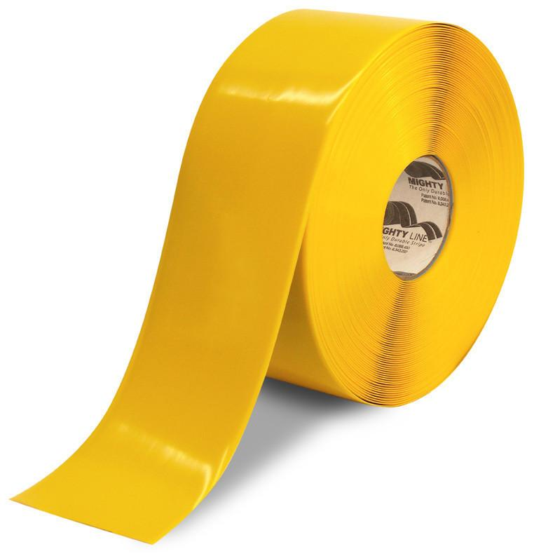 4 Mighty Line Yellow Floor Tape - 100 Roll Product