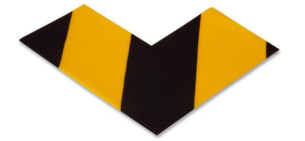 3 Wide Solid Yellow Angle With Black Chevrons - Pack Of 25 Product
