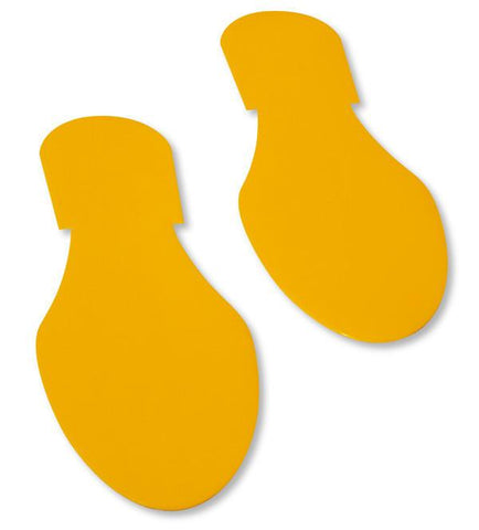 Solid Colored Yellow Footprint - Pack Of 50 Product