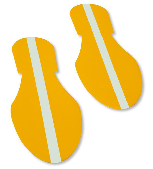 Yellow Footprintt With Luminescent Center Line - Pack Of 50 Product