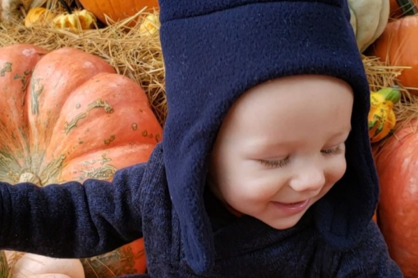 Why take a 6-month-old to a Pumpkin Patch?