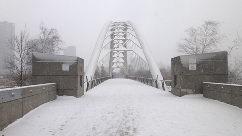 bridge over the humber in winter