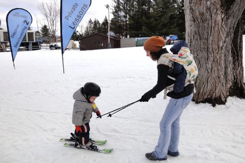 learning to ski at snow valley