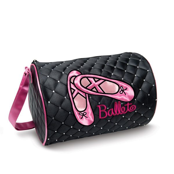 Quilted Rhinestone Ballet Duffle