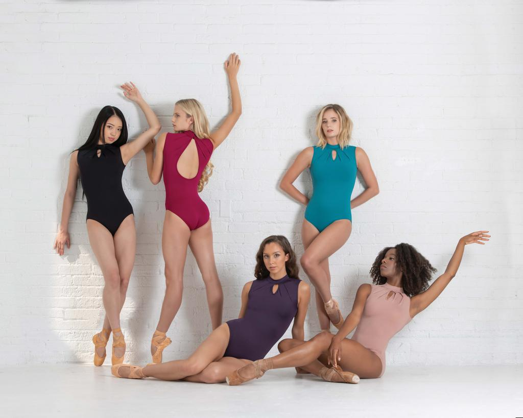 Celestine High Neck Keyhole Leotard - Adult