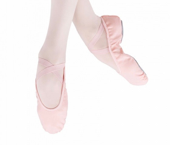 Split-Sole Stretch Canvas Ballet Shoes
